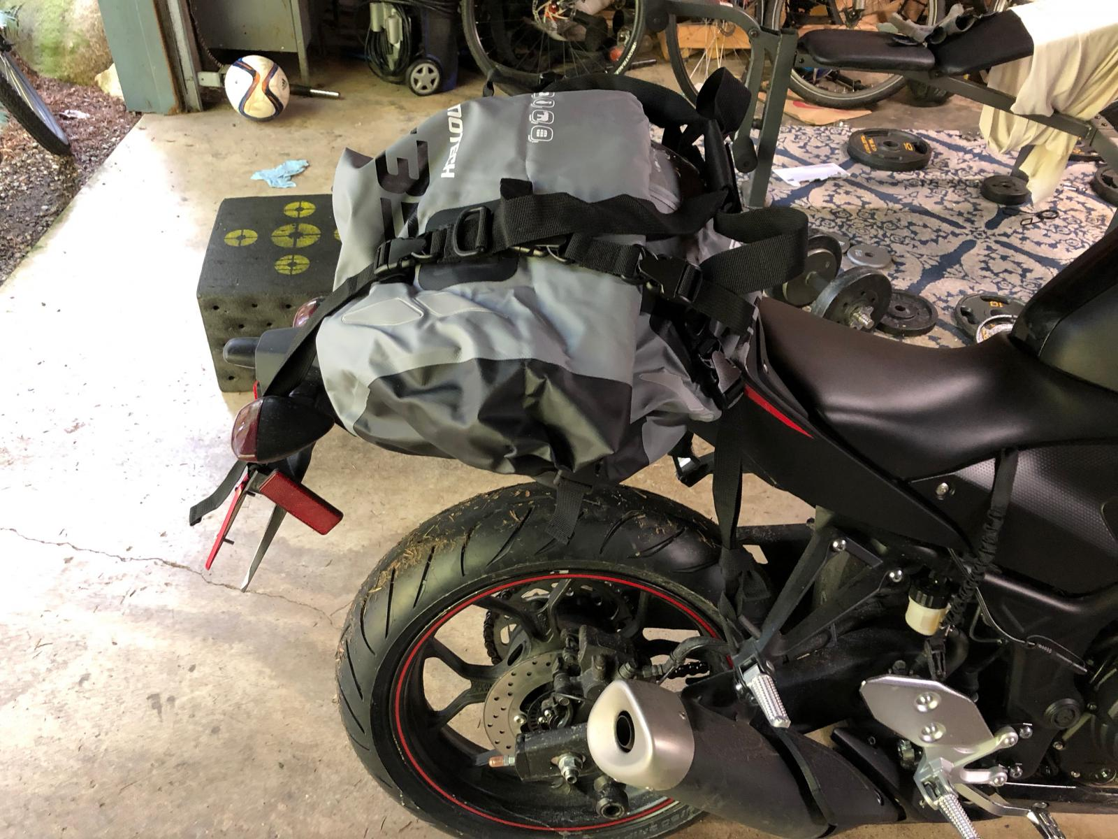 New SW Motech 350 dry bag is awesome! - Yamaha R3 Forum